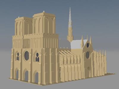 Planos de La catedral de notre dame mas renders, en Iglesias y templos – Historia