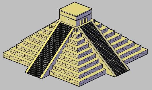imagen La piramide de chichen itza, en Obras famosas - Proyectos