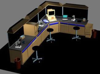 Laboratorio bioquimico 3d, en Escritorios – Muebles equipamiento