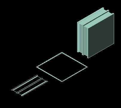 Planos de Ladrillo de vidrio 3d, en Muros de ladrillos – Detalles constructivos