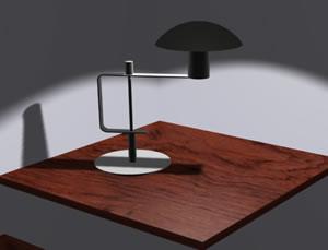imagen Lampara 3d con materiales aplicados, en Luminarias - Electricidad iluminación