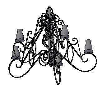 imagen Lampara arana 3d, en Luminarias - Muebles equipamiento