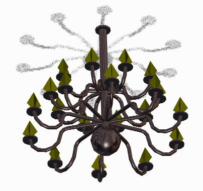 Planos de Lampara candelabro 3d, en Luminarias – Muebles equipamiento
