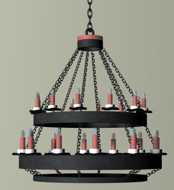 Lámpara colgante 3d, en Luminarias – Muebles equipamiento