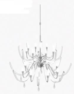 Lampara cristal 3d, en Luminarias – Electricidad iluminación