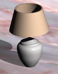 Planos de Lampara de mesa 3d con materiales aplicados, en Luminarias – Electricidad iluminación