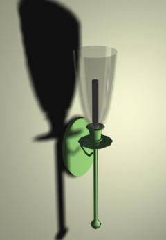 imagen Lámpara de pared 3d, en Luminarias - Muebles equipamiento