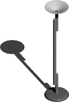 imagen Lámpara de pie 3d con materiales aplicados, en Luminarias - Muebles equipamiento