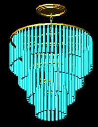 Planos de Lámpara de techo en 3d, en Luminarias – Muebles equipamiento