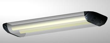 Lampara de techo – plafon para tubos –  3d, en Luminarias – Muebles equipamiento