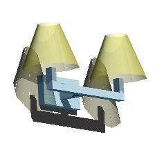 Planos de Lámpara doble de pared 3d, en Luminarias – Electricidad iluminación