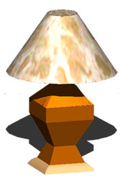 imagen Lampara en 3d, en Luminarias - Electricidad iluminación