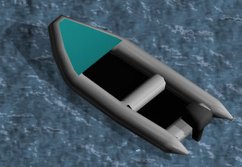 Lancha inflable 3d, en Embarcaciones – Medios de transporte