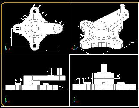 Planos de Lat 4 view, en Ejercicios varios – Dibujando con autocad