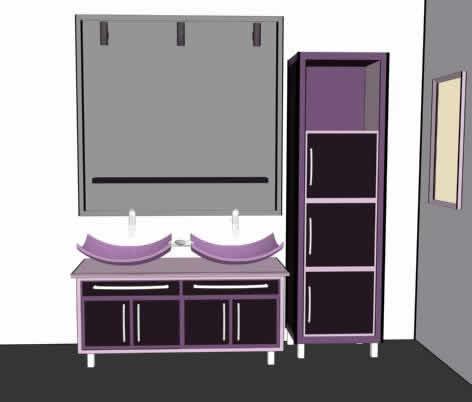 Lavabo 3d, en Baños – Muebles equipamiento