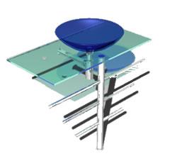 Lavabo en 3d con materiales aplicados, en Baños – Muebles equipamiento