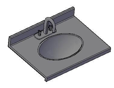 Planos de Lavamano 3d, en Lavatorios – Sanitarios