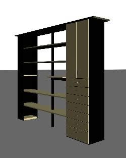 Lbreria. 3d, en Estanterías y modulares – Muebles equipamiento