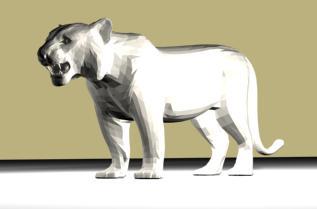 imagen León 3d, en Animales 3d - Animales