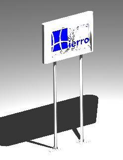 Planos de Letrero de columnas 3d, en Cartelería y publicidad – Equipamiento urbano