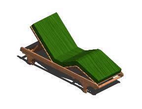 Planos de Lettino da giardino – reposera 3d, en Sillones 3d – Muebles equipamiento