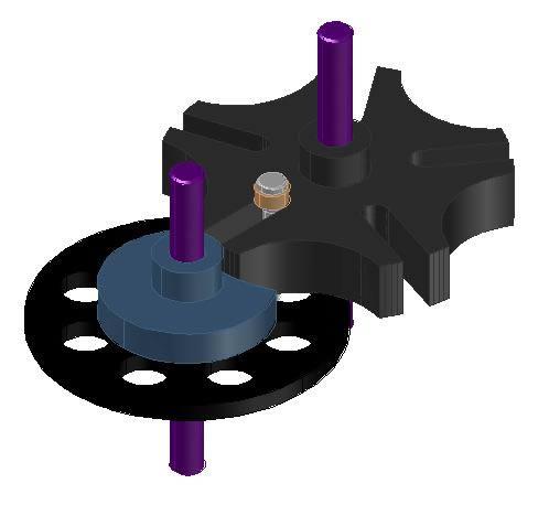 imagen Leva cruz de malta 3d, en Válvulas tubos y piezas - Máquinas instalaciones