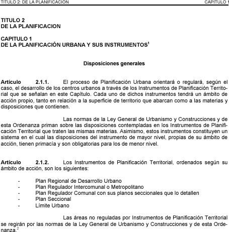 imagen Ley general de urbanismo y construccion chile, en Chile - Normas de edificación