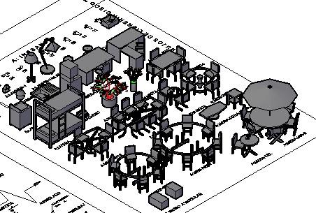 Planos de Libreria autocad 3d, en Muebles varios – Muebles equipamiento