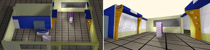 Planos de Libreria y espacio cafenet – 3d, en Cibercafés locutorios y telefónicas – Muebles equipamiento
