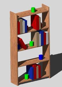 imagen Librero 3d, en Estanterías y modulares - Muebles equipamiento