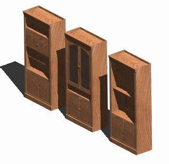 Planos de Librero triple 3d, en Muebles varios – Muebles equipamiento