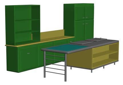Librero y mesa de centro, en Escritorios – Muebles equipamiento