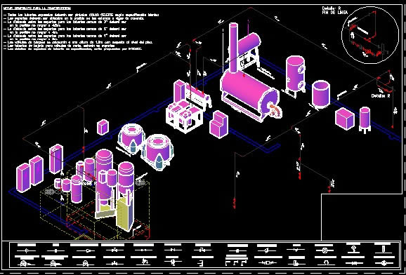 Planos de Linea de vapor en textil, en Maquinaria e instalaciones industriales – Máquinas instalaciones