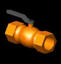 imagen Llave de paso 3d, en Provisión de agua - Instalaciones