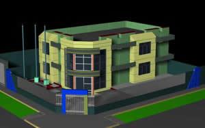 Local de seguridad ciudadana 3d, en Oficinas bancos y administración – Proyectos
