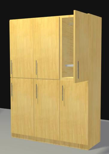 Locker 6 casilleros 3d, en Muebles varios – Muebles equipamiento