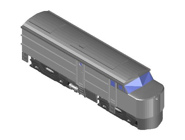 Planos de Locomotora 3d, en Medios de transporte – Proyectos