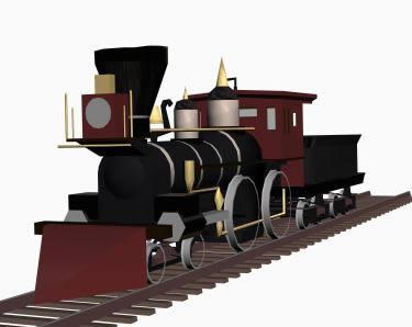 imagen Locomotora, en Ferrocarriles - Medios de transporte