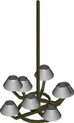 Planos de Luminaria 3d, en Luminarias – Muebles equipamiento