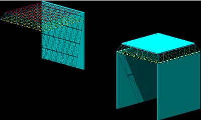 Planos de Malla espacial 4×4 3d, en Estructuras de acero – Detalles constructivos