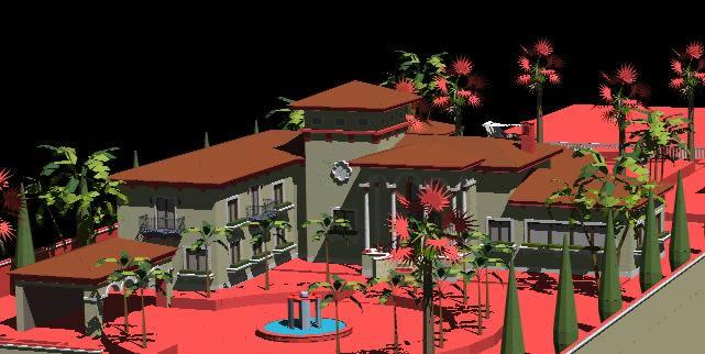 Planos de Mansion española, en Vivienda unifamiliar 3d – Proyectos