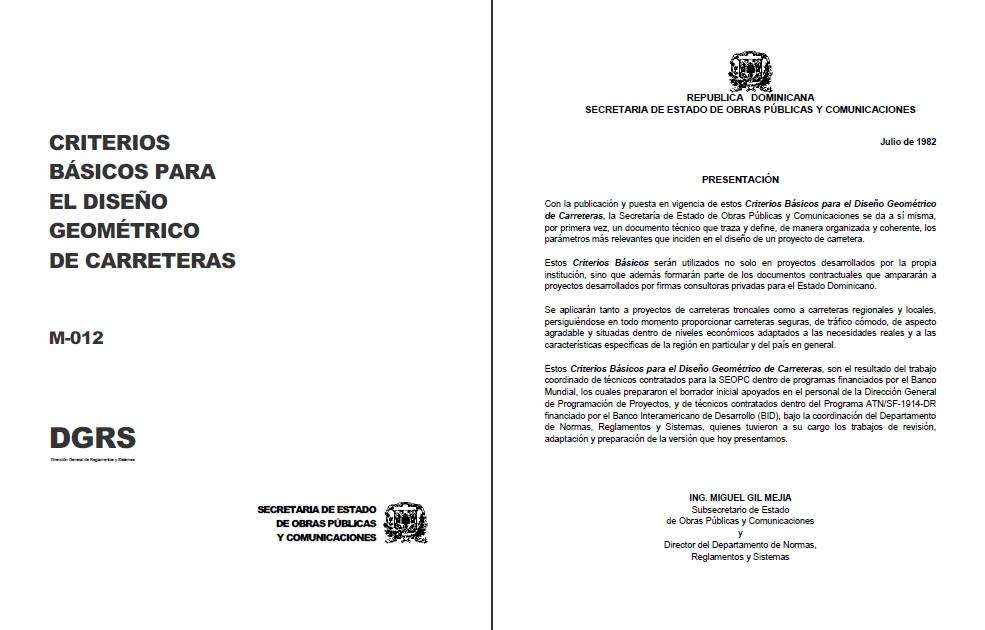 imagen Manual de diseño geométrico de carreteras - república dominicana, en República dominicana - Diseño urbano