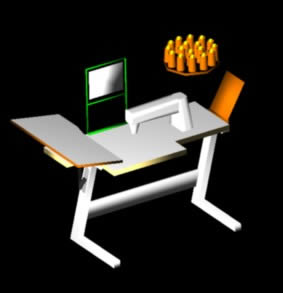 Planos de Máquina de coser industrial 3d, en Maquinaria – proyectos varios – Máquinas instalaciones