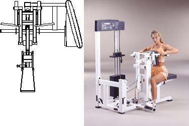 Planos de Máquina de gimnasio, en Equipamiento gimnasios – Deportes y recreación