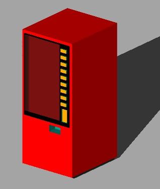 Planos de Maquina de refrescos 3d, en Objetos varios – Muebles equipamiento