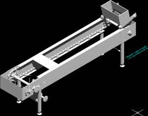 Planos de Maquina transportadora, en Maquinaria para industria de la alimentación – Máquinas instalaciones