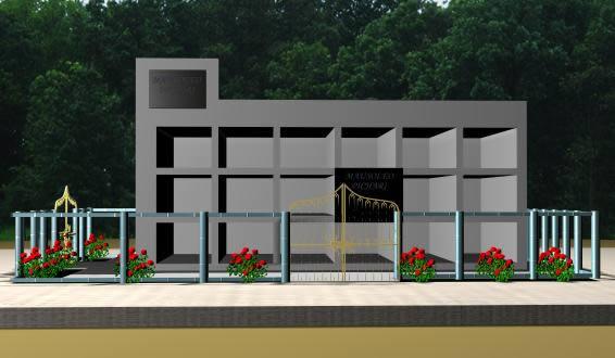 Planos de Mausoleo 3d, en Arq. religiosa – Proyectos