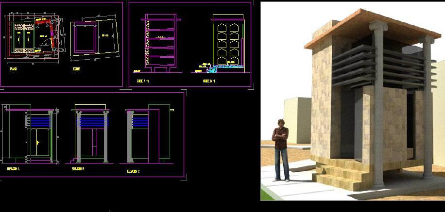 Planos de Mausoleo, en Arq. religiosa – Proyectos