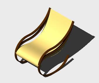 Planos de Mecedor en 3d, en Sillones 3d – Muebles equipamiento