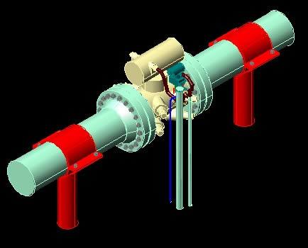 imagen Medidor ultrasonico 3d, en Gas y combustibles - Infraestructura